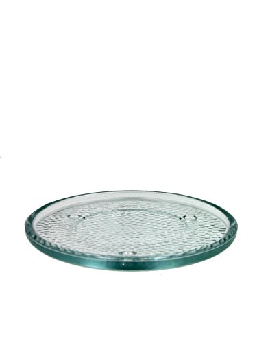 Bird Round Dish (Glass Candle Holder Clear 6 in. Beautiful Candle Trivet)