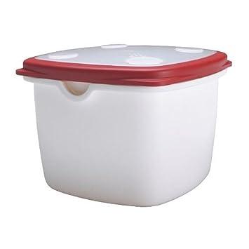 nouveau produit a484b ae2d8 IKEA 365+ - Boîte de conservation, blanc, rouge: Amazon.fr ...
