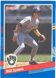 Amazoncom 1991 Donruss Baseball Card 310 Bill Spiers