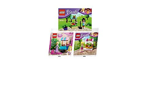 (Pack of 3) Lego - Emma's Flower Stand 30112, Stephanie's Bakery Stand 30113, Disney Princess Rapunzel's Market Visit 30116 (Stephanies Bakery Stand compare prices)