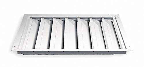 DAYTON 4C225 Fan Shutter 30 In White Painted Aluminum