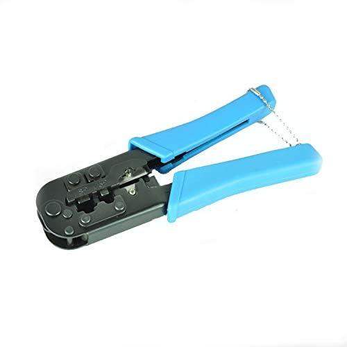 ケーブルカッター 圧着ペンチ RJ11/RJ45 ネットワーク圧着工具 プロのモジュラー ケーブル 圧着工具 手動ケーブルカッター