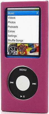 HD Accessory Leather Hard Shell Case for 4th Generation iPod Nano 4G (Hot Pink)