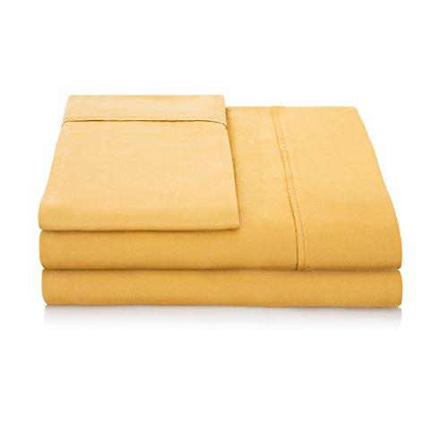 Linenspa 1500 Series 100% TENCEL Super Soft, Ultra Light Sheet Set - Split Cal King, (Amber Bed Linen)