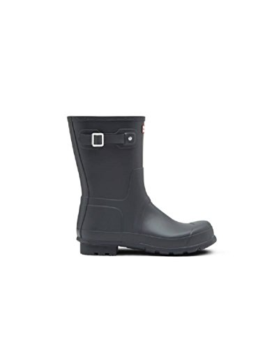 Hunter Men's Original Short Rain Boots Dark Slate 12 M US