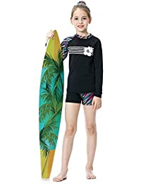 b34c7e46f2 Long Sleeve Swimsuits for Kids 2 Pieces Set Swimwear Quick Dry Surfing  Wetsuit for Girl/