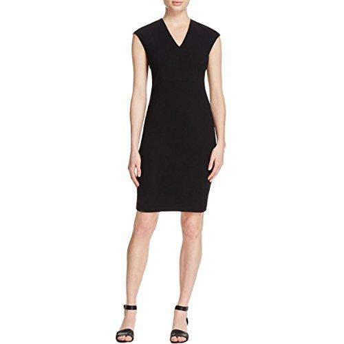 Vince Women's Textured Ponte Vneck Bib Sheath Dress, Black, 8