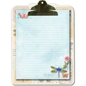 UPC 802126556207, Punch Studio Dragonflies and Butterflies Embellished Clipboard & Note Pad