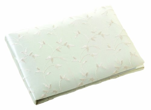 UPC 710309310488, Lillian Rose Embroidery Elegant Satin Guest Book, 10-Inch, Ivory