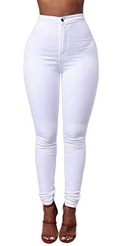 Flaco Ropa Mujeres Las Cintura Winered Fit Botón Color Estiramiento Lápiz Casuales Sólido Libre Aire Pantalones Al Slim Denim Vaqueros Alta De qn0XtZx