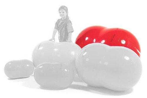 Physiotherapy Physio Roll 85 Ball in Red by Gymnic ()