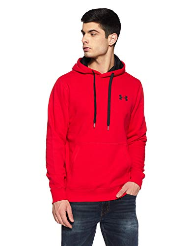 Under Armour Men's Rival Fleece Fitted Hoodie,Red /Black, XX-Large -