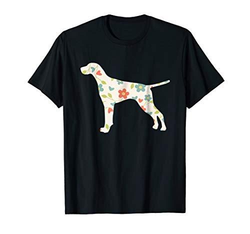 (German Shorthair Pointer Shirt | Dog Flower Silhouette)