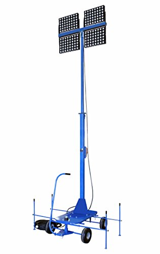 Non-Towable Light Tower w/ Wheels - 9-30' - (4) 500W LED Lamps - 259 200 Lumens - Roll-Around Cart