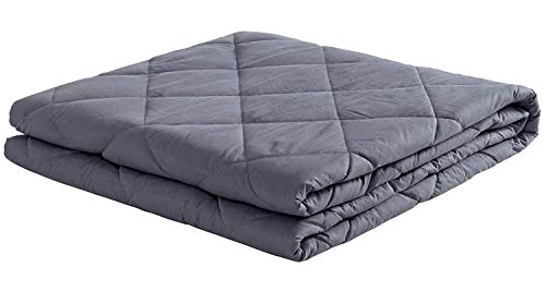 Cheap puredown Weighted Blanket Heavy Blanket for Sleeping 100% Cotton Material with Glass Beads 7 lbs 41