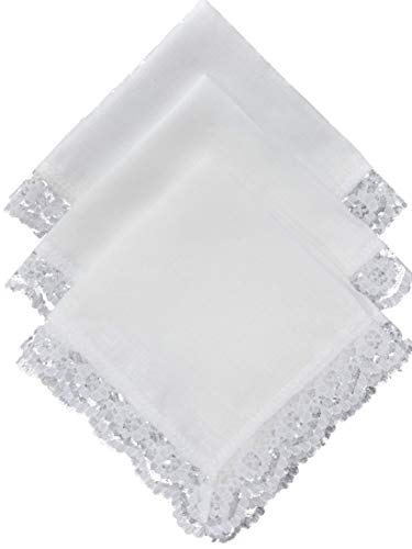 - Thomas Ferguson - Ladies White Irish Linen Handkerchief - Pack of 3 In Gift Box