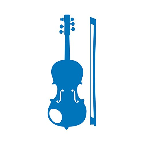 Violin With Bow Decal For Macbooks or Laptops - Proudly Made In The USA From Adhesive Vinyl 12 Inch Sky (Best Sky Violin Bows)