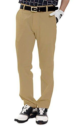 メンズ ゴルフ ロングパンツ パンツ ストレッチ 撥水 吸汗性 速乾性 通気性 薄手 無地 ポケット付き シンプル 多色 多サイズ ゴルフウェア