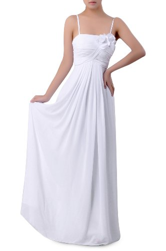 Dress Chiffon A Bridesmaid Empire Long Length Modest Blau line Kornblume Floor Occasion Special UEwqvtU