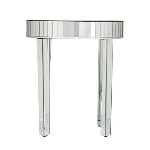 Southern Enterprises Round Mirrored Nesting Table - 2 Pc Set w/Mirror Finish - Glam Style - Mirrored Painted Table