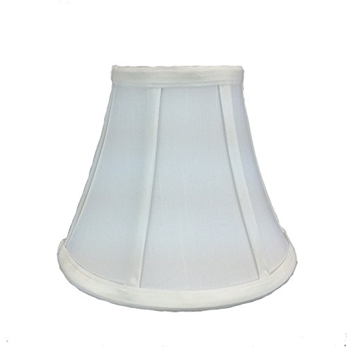 (Home Concept 4x8x6 White Bell Shantung Shade with Brass Spider Fitter By Home Concept - Perfect for chandeliers, foyer lights, and wall sconces -Small, White)
