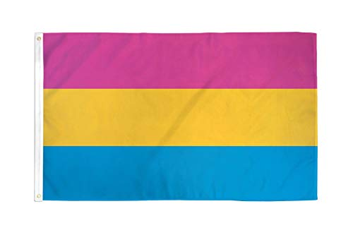 - Flags Importer Pansexual Flag 3x5 Feet Polyester Gay Pride, Pink, Yellow, Blue