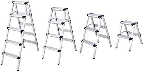 Panier sale Escabeau en Alliage d'aluminium échelles bilatérales, échelle des ménages extérieur escabeaux Pliant Ladder Tabouret chaises Pliantes (Size : 42 * 92.5 * 122.8cm)