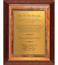 9 x 12 Gold Mirror Plaque Engraved with Gold Plate in Frame by Gino's Awards Inc