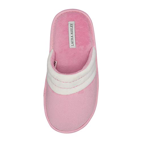- Laura Ashley Ladies Velour Terry Scuff Slipper Pink Large