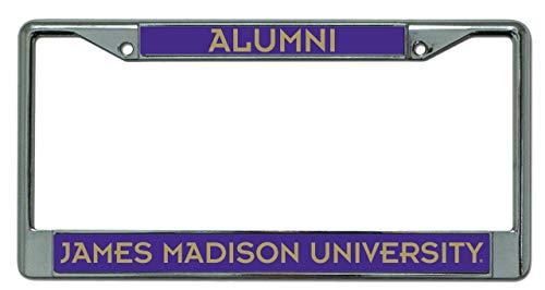 Rico James Madison JMU Dukes Alumni Metal License Plate Chrome Frame