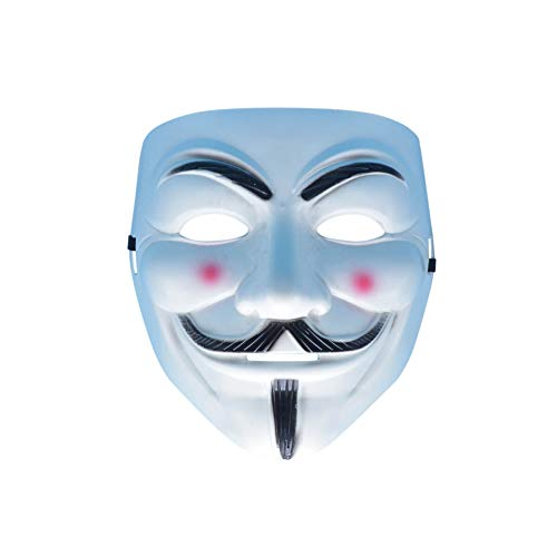 Nuoka Halloween Guy Fawkes Custome Mask Anonymous V for Vendetta Mask (Style B)