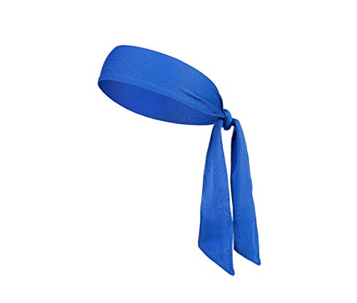 DEMIL Head Tie Tennis Tie Hairband - Sports Headband Ideal for Athletics,Pirates,Karate Keep Sweat & Hair Out of Your Face (1pcs-Blue)]()