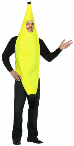 Broadway Halloween Costume (Rasta Imposta Lightweight Banana Costume, Yellow, One Size)