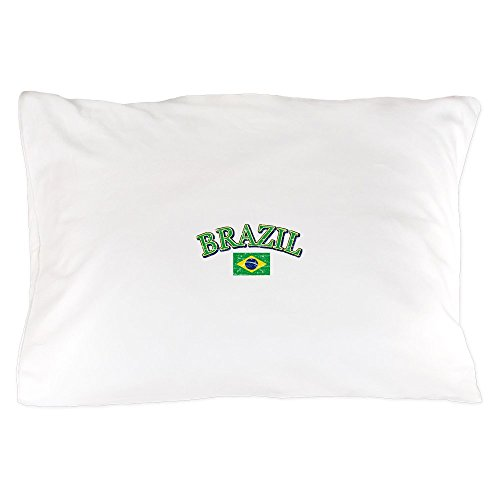 CafePress - Brazil Soccer Designs - Standard Size Pillow Case, 20''x30'' Pillow Cover, Unique Pillow Slip by CafePress