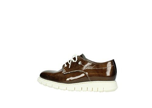 nbsp;Luz 60320 Leather comodidad nbsp;– 05025 Zapatos Patent Bronze Up Lace Wolky Ydvq00