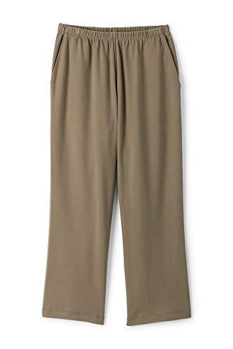 Wide Waist Crop Pant - Lands' End Women's Sport Knit Elastic Waist Pull On Crop Pants Khaki