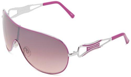 Rocawear R452 SLVPK Shield Sunglasses - Silver & Pink - 6...