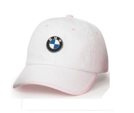c721d26e9ed Amazon.com  BMW Genuine Logo Kids  Chino Cap Hat   White   Pink ...