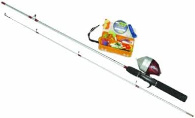 Zebco Ready Tackle Spincast Fishing Rod and Reel Combo with Expanded Tackle Wallet Kit