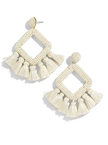 BEST LADY Tassel Earrings for Women - Statement Handmade Dangle Fringe Earrings for Women, Idea Gift for Sister, Wife and Friends - Mens Tassel