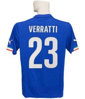 (プーマ) PUMA 14 15イタリア代表 ホーム 半袖 ヴェラッティ ワールドカップバッジ付 フルマーキング仕様 744288-01 B06XGSLH5F   X-Large