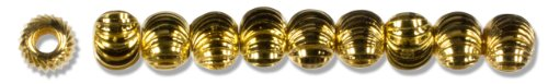 (Cousin Gold Elegance 14K Gold Plate Bead, 10-Piece, 4mm)