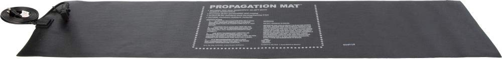 "Hydrofarm Propagation Heat Mat, 60 W, 12 x 48 Inch, Daisy Chainable,19007, 12"" x 48"", Black"