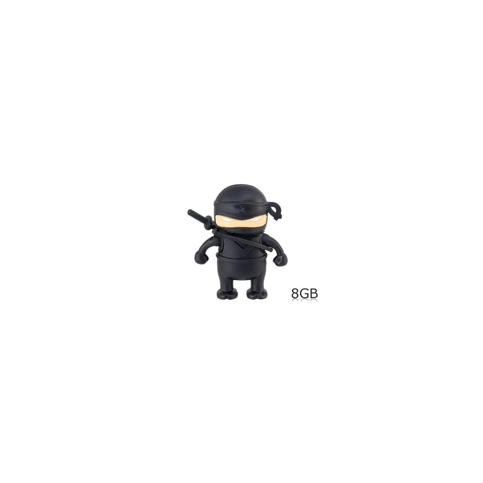 Ninja Shaped 8GB USB Flash Drive (Black)