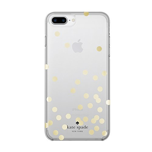 Clear Confetti Dot (kate spade new york Protective Hardshell iPhone 7 Plus Case, also compatible with iPhone 6 Plus, 6s Plus - Confetti Dot Gold/Clear)