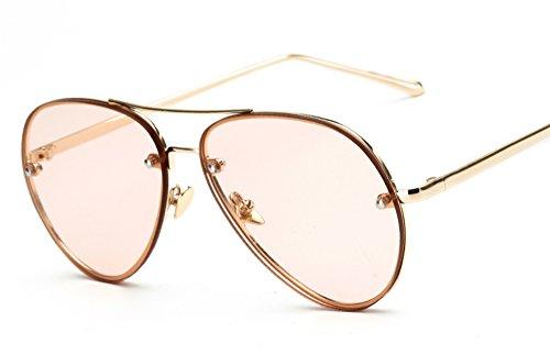 Freckles Mark Oversize Gold Metal Mirror Clear Vintage Aviator Sunglasses 62mm (Pink, - Rose Aviators