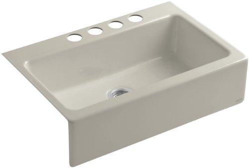 KOHLER K-6546-4U-G9 Dickinson Apron-Front, Undercounter Kitchen Sink, Sandbar ()