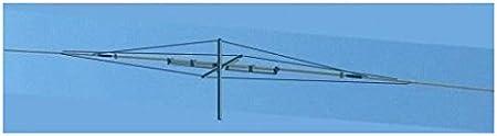 Antena dipolo rotativo 17/40 m 18/7 MHz, Longitud 13,46 M ...