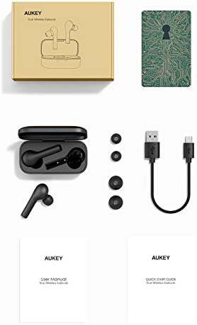 AUKEY True Wireless Earbuds, Bluetooth 5 Headphones in Ear with Charging Case, Hands-Free Headset with Mic, Touch Control, 35 Hours Playback for iPhone and Android
