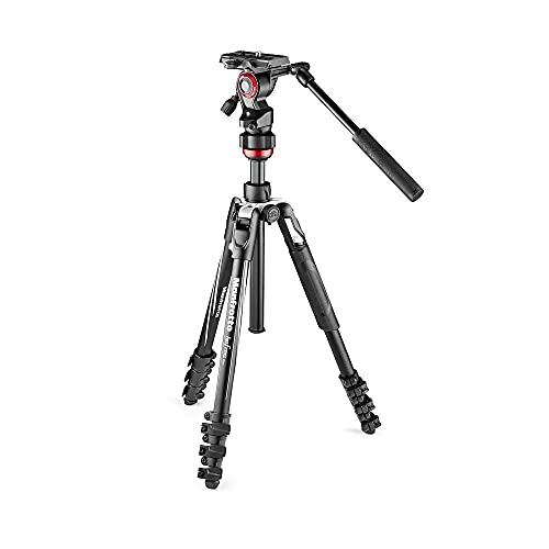 "Manfrotto MVKBFRL-LIVE tripode Digitales / cámaras de película 3 pata(s) Negro, Plata - Trípode (Digitales / cámaras de película, 4 kg, 3 pata(s), Negro, Plata, Cierre Flip-lock, 1/4"", 3/8"")"